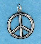 sterling silver peace sign pendant abc1052