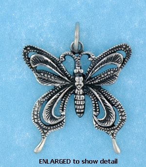 model ABC514 butterfly pendant enlarged view