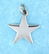 sterling silver 5 point star pendant abc518