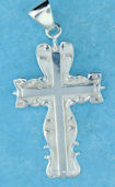 sterling silver cross pendant ABC607