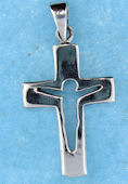 sterling silver cross pendant ABC706-2415