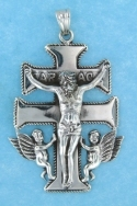 sterling silver caravaca cross pendant ABC714
