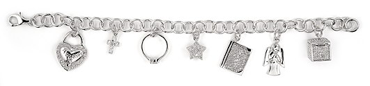 sterling silver charm bracelet ABH073