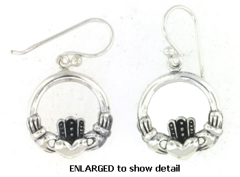 model ACDC0001 claddagh earrings enlarged view