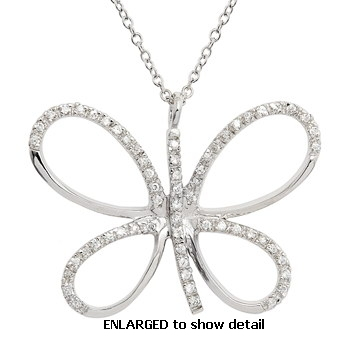 ACZ387 CZ butterfly necklace