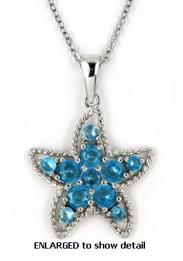 ACZ427 CZ star necklace