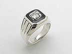 sterling silver cz ring AD0036