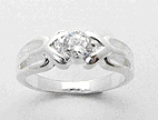 sterling silver cz band ring style AD03