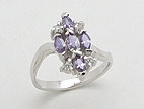 sterling silver cz ring AD28