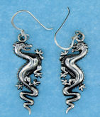 sterling silver dragon earrings AECT0002