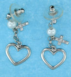 sterling silver cross earrings style AECZ421
