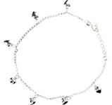 sterling silver anklet AED7004