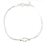 sterling silver anklet AED9002