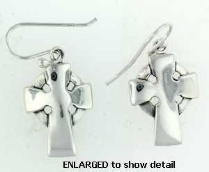 model AEP-077 cross wire earrings larger view