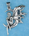 sterling silver fairy pendant AFS0008
