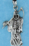 Model AGP768100 pendant with grim reaper pendant with sickle