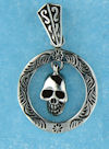 Model AGP76891 Gothic pendant with skull in cirlce