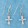 sterling silver cross earrings style AHSE0053