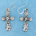 sterling silver cross earrings style AHSE0446
