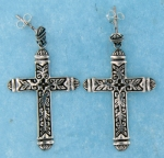 sterling silver cross earrings style AHSE0559