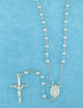 sterling silver cross rosary necklace AN003