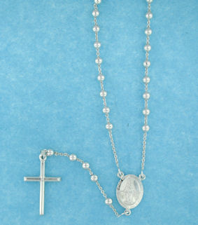 sterling silver cross rosary necklace AN004