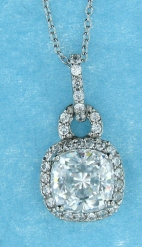 sterling silver CZ necklace ANP20440