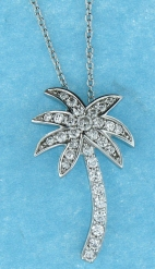 sterling silver CZ necklace ANP20622