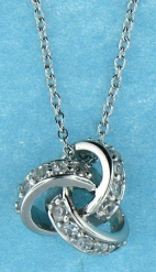 sterling silver Cubic Zirconia necklace ANP21084