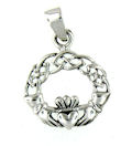Sterling silver Claddagh pendant style AP767-73