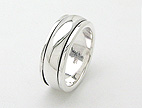 sterling silver Motion rings AR0014