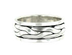 sterling silver spinner ring style AR0044