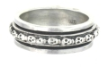 sterling silver spinner rings AR0076