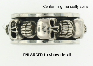 Model AR0184 Skull Spinner Ring