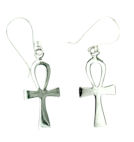 sterling silver cross earrings style ASH0026
