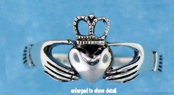 ASR0175 sterling silver claddagh ring