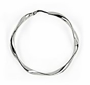 sterling silver twisted hoop earring ATE023