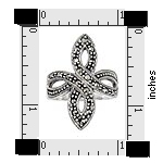 Marcasite cross ring ATR296
