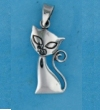 Silver Cat Pendant Necklaces