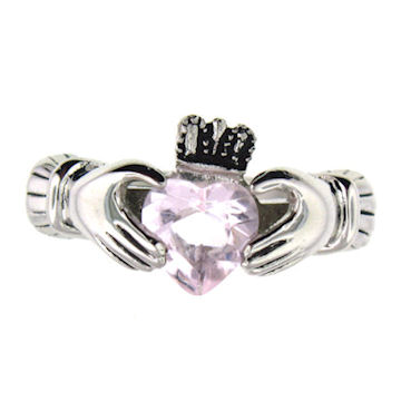 CLR1003-June stainless steel claddagh ring