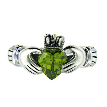 CLR1003-May stainless steel claddagh ring