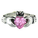 sterling silver claddagh rings CLR1003 October