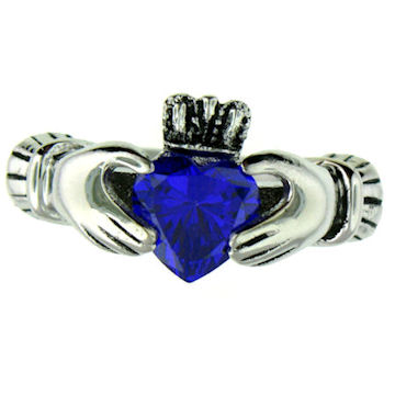 CLR1003-September stainless steel claddagh ring