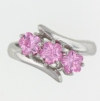 sterling silver Cubic Zirconia ring CZ0002 Pink