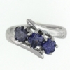 sterling silver Cubic Zirconia ring CZ0002 Purple