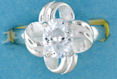 sterling silver Cubic Zirconia ring CZ0003 Clear