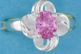 sterling silver Cubic Zirconia ring CZ0003 Pink