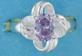 sterling silver Cubic Zirconia ring CZ0003 Purple