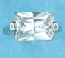 sterling silver Cubic Zirconia ring CZ0004 CLEAR
