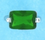 sterling silver Cubic Zirconia ring CZ0004 Green